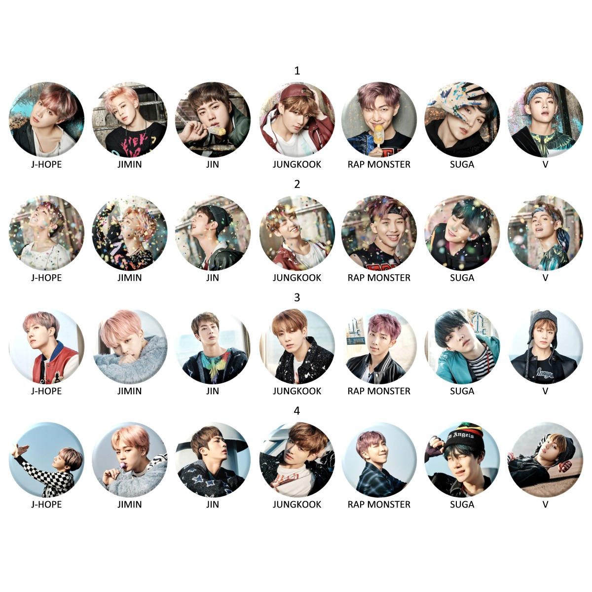 BTS You Never Walk Alone Buttons